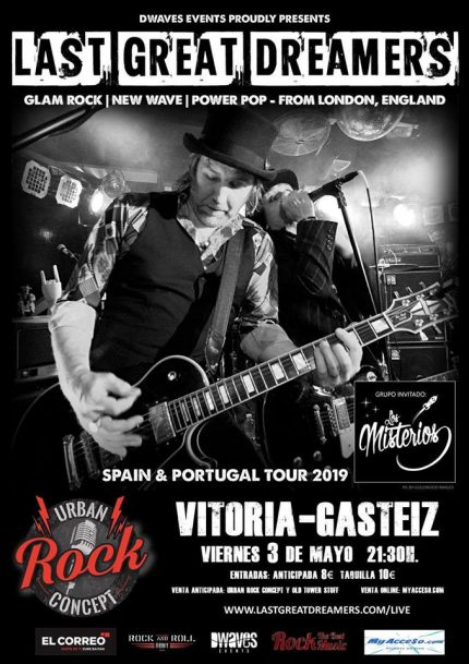 Concierto Last Great Dreamers + Los Misterios en Urban Rock Concept de Vitoria