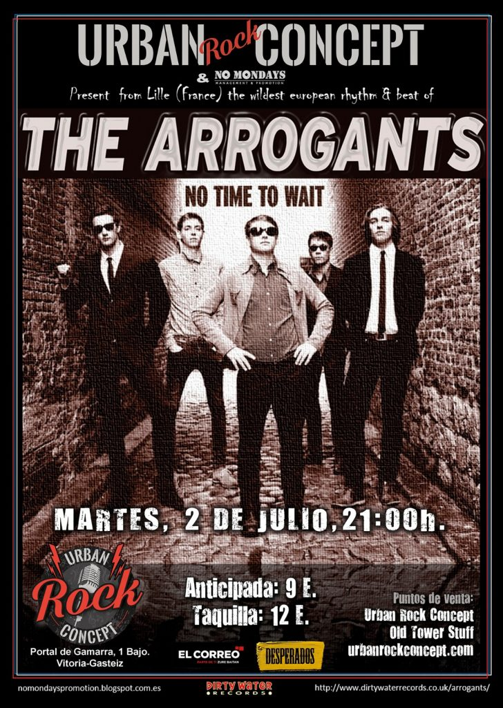 Concierto de The Arrogants en Urban Rock Concept en Vitoria-Gasteiz