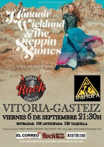 Concierto de Hannah Wicklund & The Steppin Stones + Garufa en Vitoria