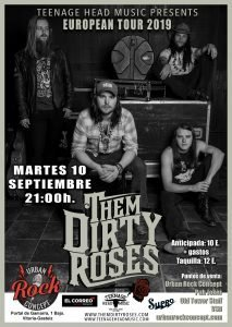 Concierto de Them Dirty Roses en Vitoria-Gasteiz