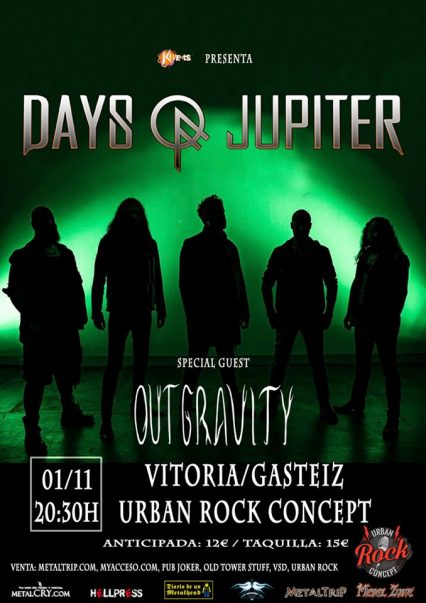 Concierto de Days Of Jupiter + Outgravity en Vitoria-Gasteiz