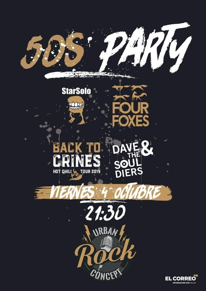 50s Party con StarSolo + Four Foxes + Back to Crines + Dave&The Souldiers en Vitoria-Gasteiz