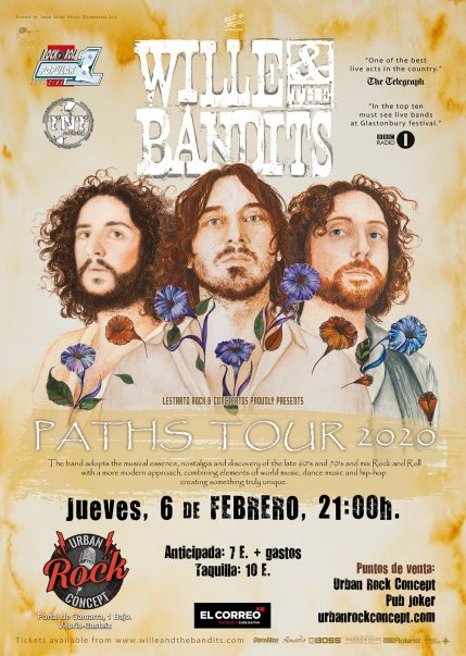 Concierto de Wille & The Bandits en Vitoria