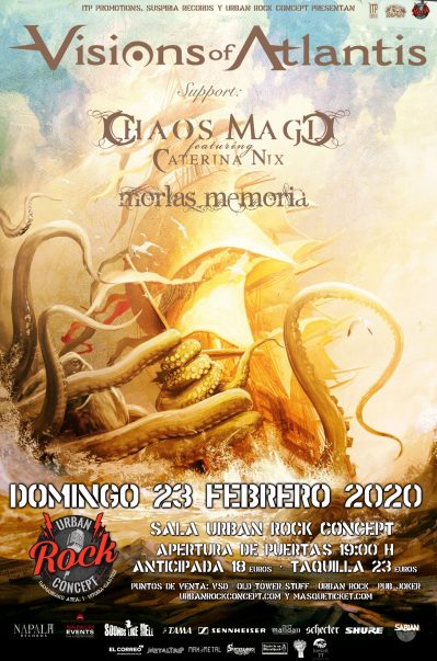 Concierto de Visions of Atlantis + Chaos Magic + Morlas Memoria en Vitoria