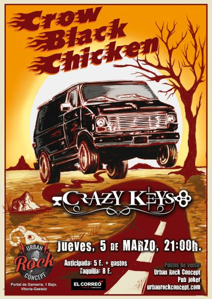 Concierto de Crow Black Chicken + Crazy Keys en Vitoria